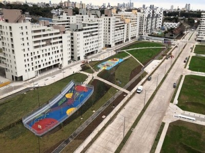 07 de Septiembre-Finalizaron las obras del nuevo espacio verde en el Parque de la Estación Buenos Aires de Parque Patricios