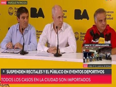 12 de Marzo-Suspenden eventos y concentración masiva en toda la Ciudad de Buenos Aires