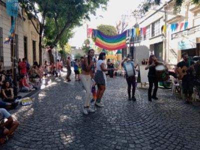 23 de Febrero-Carnaval disidente de la comunidad LGTB en el barrio del Abasto