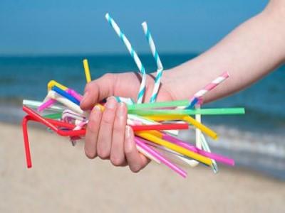 """""""Día Mundial sin Sorbetes"""", el Gobierno porteño entregó sorbetes y bolsas plásticas a una ONG para su reciclaj"""