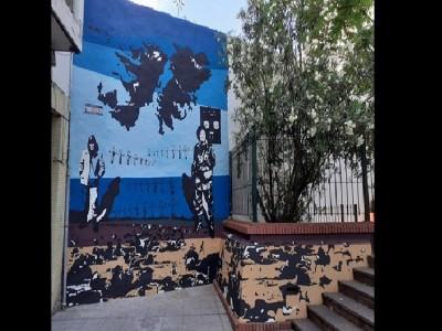 09 de Abril-Declararon de Interés Cultural un mural en homenaje a los caídos en Malvinas_