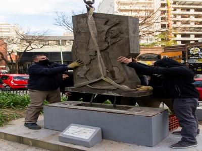 02 de Julio-La Ciudad repuso el Monumento a José Hernández de la Plazoleta Santa María de los Buenos Aires, en Belgrano_