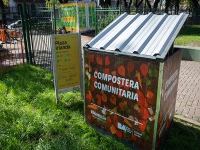 20 de Septiembre-Inauguran composteras comunitarias en las plazas porteñas_